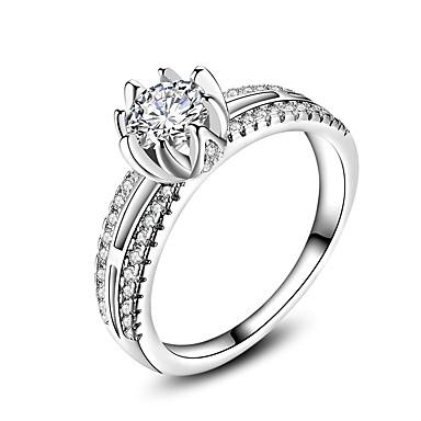 Damen Ring Schmuck Kreisförmiges Klassisch Kreis Freundschaft Simple Style Euramerican versilbert Kreisförmig Schmuck Hochzeit Büro /