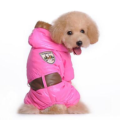 Câine Hanorace cu Glugă Salopete Îmbrăcăminte Câini Respirabil Casul/Zilnic Solid Albastru Roz Costume Pentru animale de companie