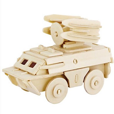 Robotime قطع تركيب3D تركيب النماذج الخشبية دبابة أسد 3D اصنع بنفسك خشب الخشب الطبيعي للجنسين هدية