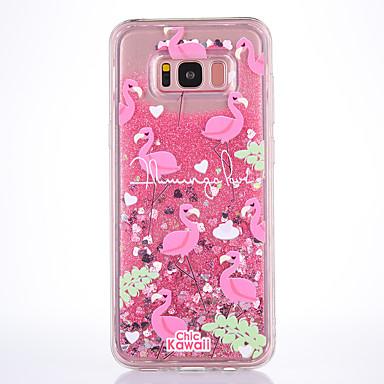 Maska Pentru Samsung Galaxy S8 Plus S8 Scurgere Lichid Transparent Model Carcasă Spate Flamingo Moale TPU pentru S8 S8 Plus S7 edge S7