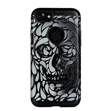 Maska Pentru Apple Anti Șoc Embosat Model Carcasă Spate Cranii Greu PC pentru iPhone 7 Plus iPhone 7 iPhone 6s Plus iPhone 6 Plus iPhone