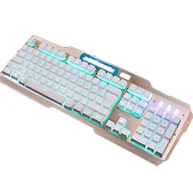 Bazalias v9 104keys usb iluminat tastatură cu fir cu cablu 150cm