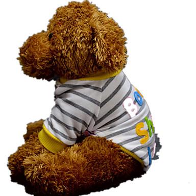 كلب كنزة ملابس الكلاب كاجوال/يومي مخطط أصفر زهري أزرق فاتح