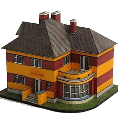 Puzzle 3D Lucru Manual Din Hârtie Jucarii Pătrat Clădire celebru Casă Arhitectură 3D Reparații Simulare Hârtie Rigidă pentru Felicitări
