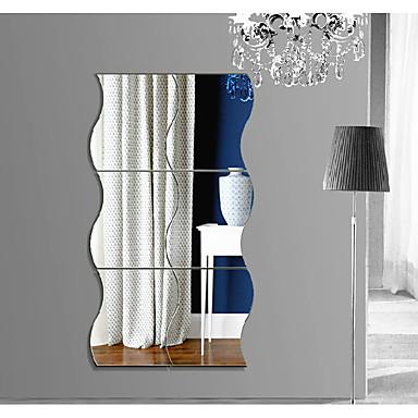 تجريدي أشكال 3D ملصقات الحائط ملصقات الحائط على المرآة لواصق حائط مزخرفة, أكريليك تصميم ديكور المنزل جدار مائي جدار
