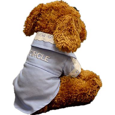 كلب T-skjorte ملابس الكلاب كاجوال/يومي دانتيل أبيض أزرق فاتح شبكة
