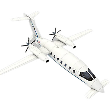 3D-puzzels Bouwplaat Modelbouwsets Papierkunst Speeltjes Vliegtuig Vechter 3D DHZ Simulatie Unisex Stuks