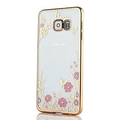غطاء من أجل Samsung Galaxy S8 Plus S8 حجر كريم تصفيح نموذج غطاء خلفي زهور ناعم TPU إلى S8 Plus S8 S7 edge S7 S6 edge S6 S5