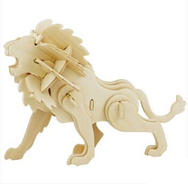 RUOTAI Puzzle 3D Puzzle Μοντέλα και κιτ δόμησης Modelul lemnului Jucarii Leu Animal 3D Reparații Lemn Lemn natural Unisex Bucăți