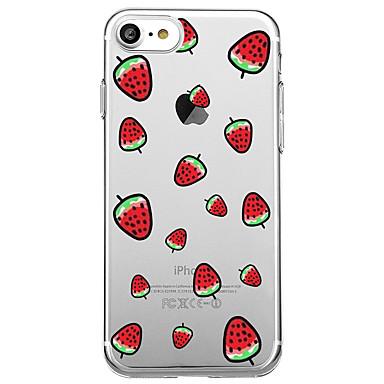 Maska Pentru Apple iPhone 7 Plus iPhone 7 Transparent Model Capac Spate Fruct Desene Animate Moale TPU pentru iPhone 7 Plus iPhone 7