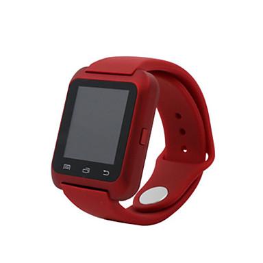 Heren Modieus horloge Digitaal Waterbestendig Rubber Band Zwart Wit Rood
