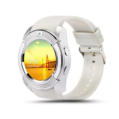Herrn Smart Watch digital Caucho Band Schwarz Weiß Rot