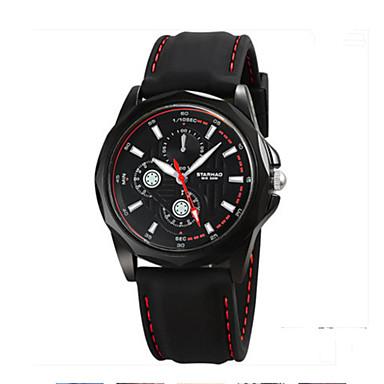 Heren Modieus horloge Kwarts Rubber Band Informeel Zwart