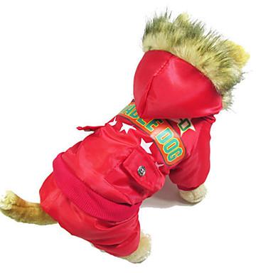 Hund Mäntel Overall Hundekleidung Baumwolle Winter Frühling/Herbst warm halten Britisch Rot Grün Blau Für Haustiere