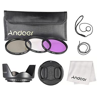 Andoer 62mm Filter Kit (uv cpl fld) Nylon Tragetasche Objektivdeckel Objektivdeckel Objektiv Objektiv Objektiv Reinigungstuch