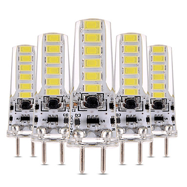 YWXLIGHT® 5 stuks 4W 300-400 lm 2-pins LED-lampen T 12 leds SMD 5730 Dimbaar Decoratief Warm wit Koel wit AC 12V DC 12-24V