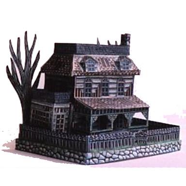 3D-puzzels Bouwplaat Papierkunst Modelbouwsets Vierkant Beroemd gebouw Geest Architectuur DHZ Hard Kaart Paper Halloween Klassiek Jongens