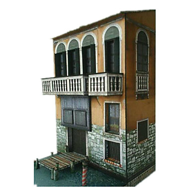 3D - Puzzle Papiermodelle Spielzeuge Berühmte Gebäude Architektur 3D Heimwerken Unisex Stücke