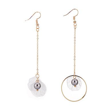 Damen Tropfen-Ohrringe Imitierte Perlen Einzigartiges Design Aleación Kreisform Schmuck Party Geburtstag Büro / Geschäftlich Modeschmuck