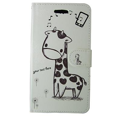 Недорогие Чехлы и кейсы для Galaxy S4 Mini-Кейс для Назначение SSamsung Galaxy S8 / S7 / S6 edge Кошелек / Бумажник для карт / со стендом Чехол Животное / Мультипликация Твердый Кожа PU