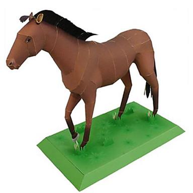 3D - Puzzle Papiermodel Modellbausätze Quadratisch Pferd Tiere Heimwerken Hartkartonpapier Klassisch Jungen Unisex Geschenk