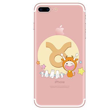 hoesje Voor Apple iPhone 7 Plus iPhone 7 Transparant Patroon Achterkant Cartoon Zacht TPU voor iPhone 7 Plus iPhone 7 iPhone 6s Plus