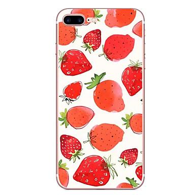 Fall für Apfel iphone 7 7 plus Fallabdeckung Erdbeeremuster hd gemaltes tpu materielles weiches Falltelefonkasten für iphone 6s 6 plus