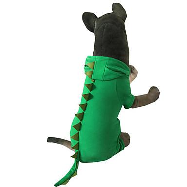 Câine Costume Îmbrăcăminte Câini Animal Verde Roz Bumbac Jos Costume Pentru animale de companie Bărbați Pentru femei Halloween