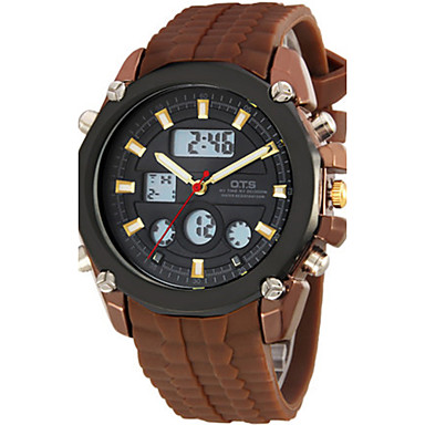 Heren Modieus horloge Digitaal Rubber Band Bruin