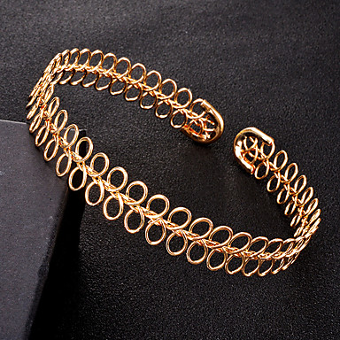 Dames Geometrische vorm Vorm Euramerican Modieus Choker kettingen Legering Choker kettingen Feest Dagelijks Kostuum juwelen