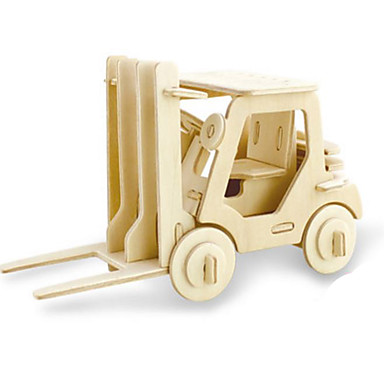 Speelgoedauto's 3D-puzzels Legpuzzel Houten modellen Dinosaurus Tank Vliegtuig Vrachtwagen 3D Dieren DHZ Hout Klassiek Kinderen Unisex