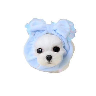 Hond Bandana's & Hoeden Hondenkleding Strik Geel Blauw Roze Stof Kostuum Voor huisdieren Dames Casual/Dagelijks