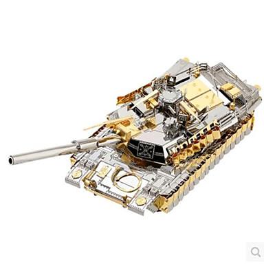 قطع تركيب3D تركيب تركيب معدني مجموعات البناء ألعاب مربع دبابة معمارية اصنع بنفسك ألمنيوم معدن غير محدد قطع