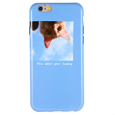 Hülle Für Apple iPhone 7 Plus iPhone 7 Muster Rückseite Katze Wort / Satz Weich TPU für iPhone 7 Plus iPhone 7 iPhone 6s Plus iPhone 6s