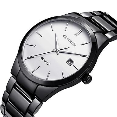 CURREN Bărbați Ceas de Mână Unic Creative ceas Ceas Casual Ceas Sport Ceas La Modă Quartz Calendar Oțel inoxidabil Bandă Lux Creative