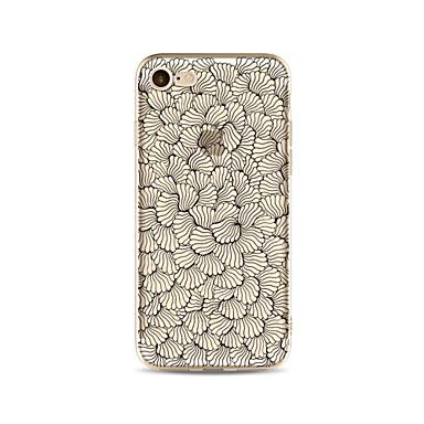 Hülle Für Apple iPhone X iPhone 8 Plus Transparent Muster Rückseitenabdeckung Anwendung Blume Weich TPU für iPhone X iPhone 8 Plus iPhone