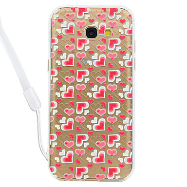 hoesje Voor Samsung Galaxy A5(2017) A3(2017) Transparant Patroon Achterkantje Hart Transparant Hard Acryl voor A3 (2017) A5 (2017)