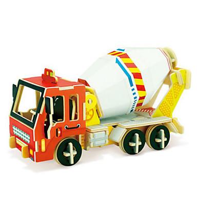 Robotime Speelgoedauto's 3D-puzzels Legpuzzel Houten modellen Vrachtwagen 3D DHZ Hout Klassiek Constructievoertuig Unisex Geschenk