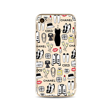hoesje Voor Apple iPhone X iPhone 8 Plus Transparant Patroon Achterkantje Tegel Sexy dame Zacht TPU voor iPhone X iPhone 7s Plus iPhone 8
