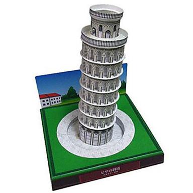 3D - Puzzle Papiermodel Modellbausätze Quadratisch Turm Berühmte Gebäude Architektur Der Schiefe Turm von Pisa Heimwerken Hartkartonpapier