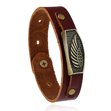 Dames Heren Lederen armbanden Modieus Leder Geometrische vorm Sieraden Voor Bruiloft Feest Sport