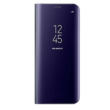 voordelige Galaxy A-serie hoesjes / covers-hoesje Voor Samsung Galaxy A3 (2017) / A5 (2017) / A7 (2017) met standaard / Spiegel / Flip Volledig hoesje Effen Hard PU-nahka