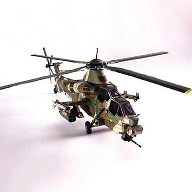 3D - Puzzle Papiermodel Quadratisch Helikopter Heimwerken Hartkartonpapier Helikopter Unisex Geschenk