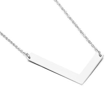 للرجال للمرأة قلائد الحلي Alphabet Shape الفولاذ المقاوم للصدأ الصداقة موضة مجوهرات الأولية مجوهرات من أجل حزب عيد ميلاد هدية يوميا