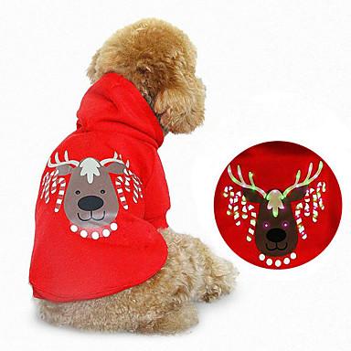 Hond Hoodies Hondenkleding Kerstmis Rendier Rood