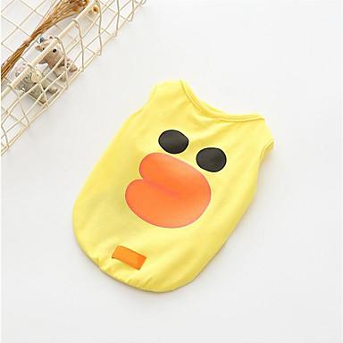 Hund T-shirt Hundekleidung Atmungsaktiv Lässig/Alltäglich Karton Orange Gelb Kaffee Rosa Kostüm Für Haustiere