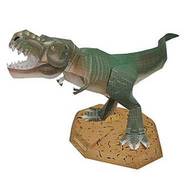 3D-puzzels Bouwplaat Tyrannosaurus Vierkant Dinosaurus DHZ Hard Kaart Paper Unisex Geschenk