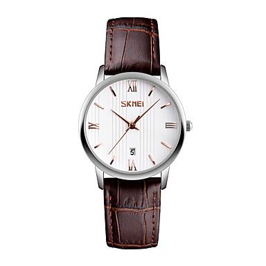 SKMEI Pentru femei Ceas de Mână Ceas Elegant  Ceas La Modă Japoneză Quartz Calendar Rezistent la Apă Piele Bandă Cool Negru Maro