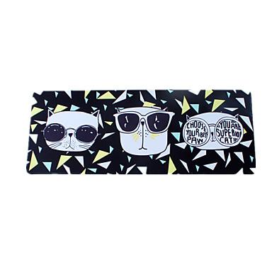 Cool kat zwart muismat waterdicht cartoon stijl doek gaming muismat 78cm * 30cm