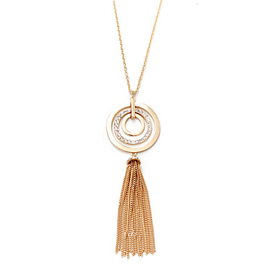 Damen Anhängerketten - Personalisiert Luxus Quaste Retro Natur Afrika Euramerican Geometrische Form Gold Silber Modische Halsketten Für